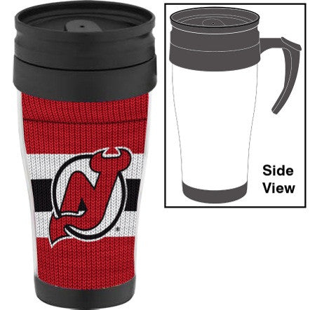New Jersey Devils Sock Travel Mug w/ Handle