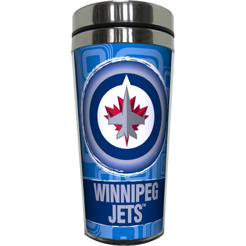 Winnipeg Jets Squares Travel Mug w/ Handle