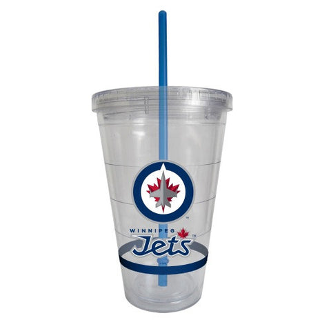 Winnipeg Jets Straw Tumbler