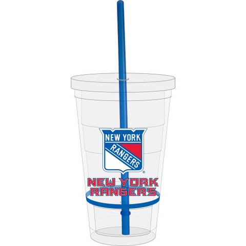 New York Rangers Straw Tumbler