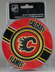 Calgary Flames **Absorbent Coasters 4pk