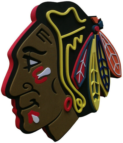 Chicago Blackhawks 3D Foam Sign