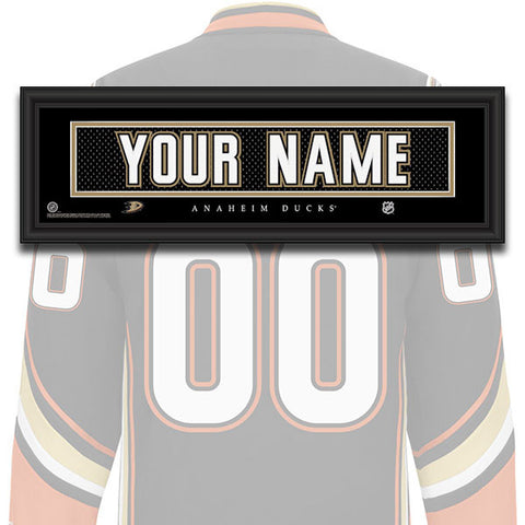 NHL Personalized Jersey Name Patch - Anaheim Ducks