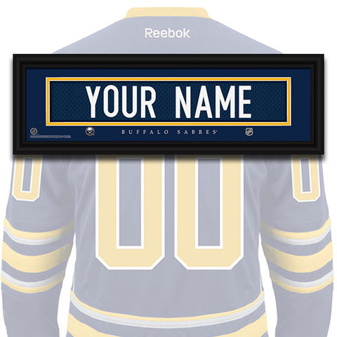 NHL Personalized Jersey Name Patch - Buffalo Sabres