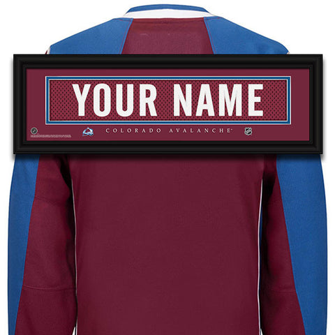 NHL Personalized Jersey Name Patch - Colorado Avalanche