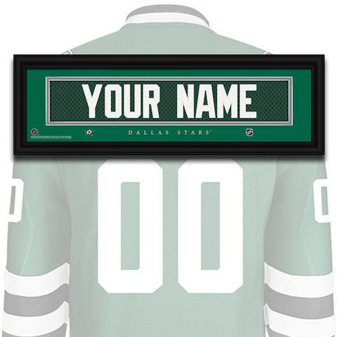 NHL Personalized Jersey Name Patch - Dallas Stars