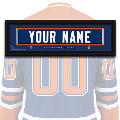 NHL Personalized Jersey Name Patch - Edmonton Oilers