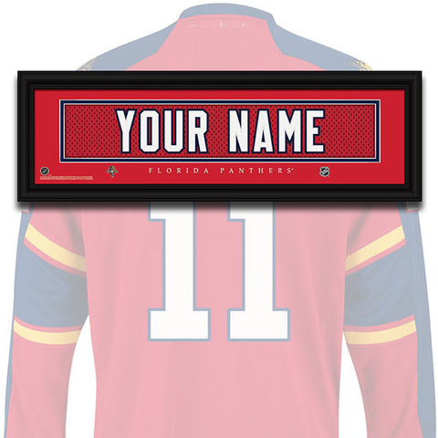 NHL Personalized Jersey Name Patch - Florida Panthers