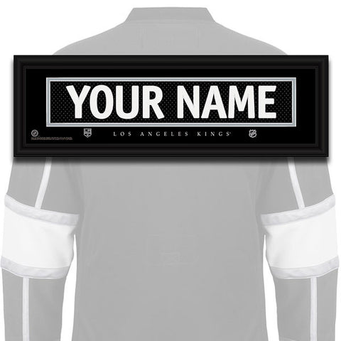 NHL Personalized Jersey Name Patch - Los Angeles Kings