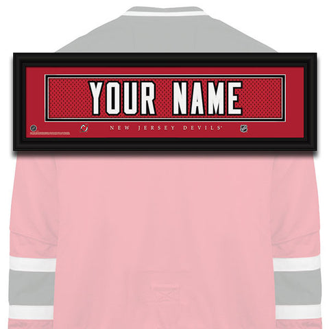 NHL Personalized Jersey Name Patch - New Jersey Devils