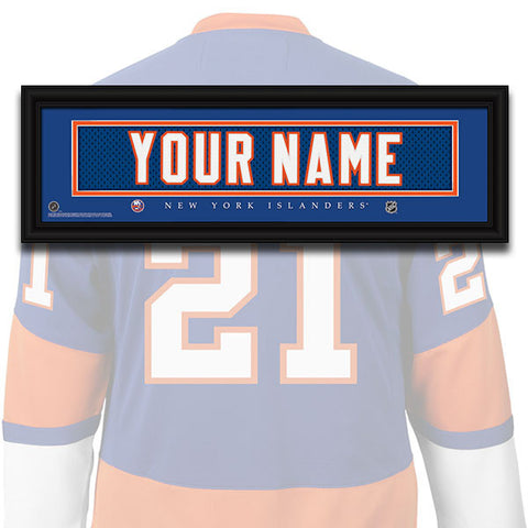 NHL Personalized Jersey Name Patch - New York Islanders