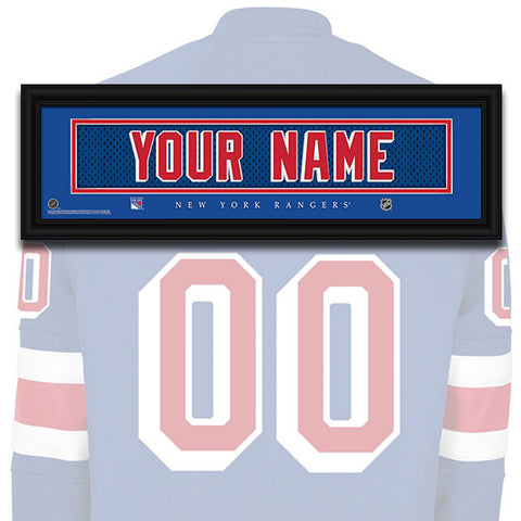 NHL Personalized Jersey Name Patch - New York Rangers