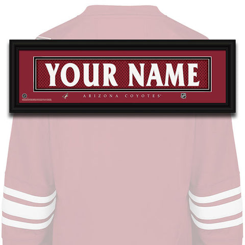 NHL Personalized Jersey Name Patch - Arizona Coyotes