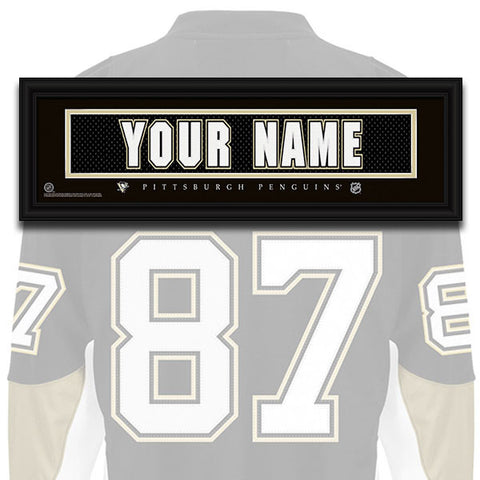 NHL Personalized Jersey Name Patch - Pittsburgh Penguins