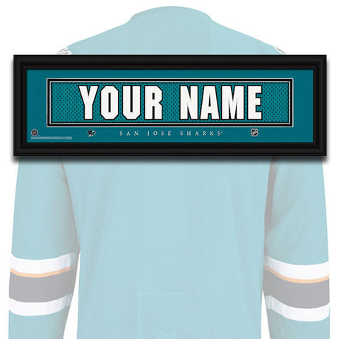 NHL Personalized Jersey Name Patch - San Jose Sharks