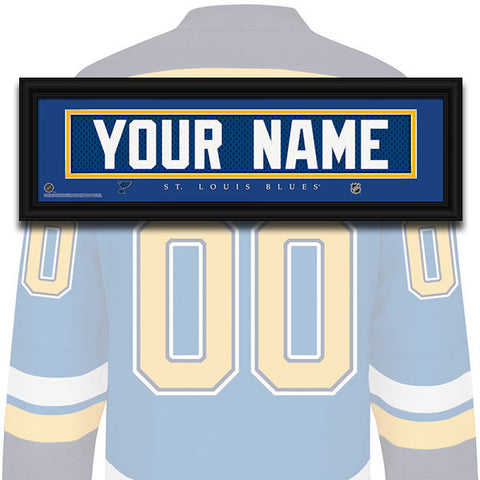 NHL Personalized Jersey Name Patch - St. Louis Blues
