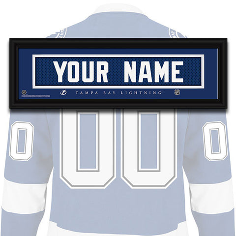 NHL Personalized Jersey Name Patch - Tampa Bay Lightning