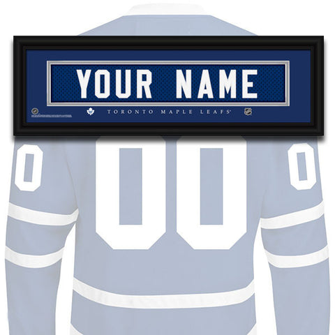 NHL Personalized Jersey Name Patch - Toronto Maple Leafs
