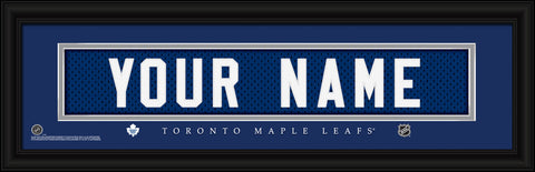 NHL Personalized Jersey Name Print - Toronto Maple Leafs