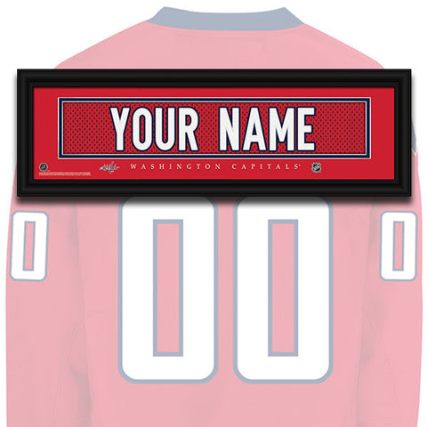 NHL Personalized Jersey Name Patch - Washington Capitals