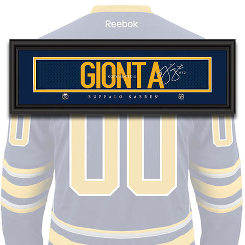 Buffalo Sabres - Brian Gionta - NHL Jersey Patch