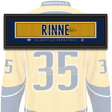 Nashville Predators - Pekka Rinne - NHL Jersey Patch