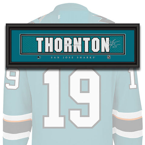 San Jose Sharks - Joe Thornton - NHL Jersey Patch