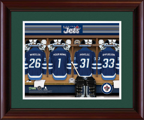Personalized NHL Locker Room Print - Winnipeg Jets