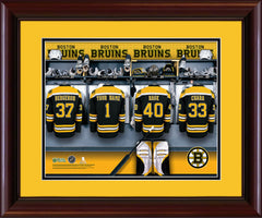 Personalized NHL Locker Room Print - Boston Bruins