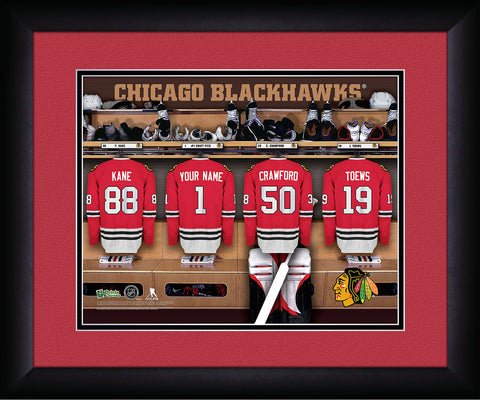 Personalized NHL Locker Room Sign - Chicago Blackhawks