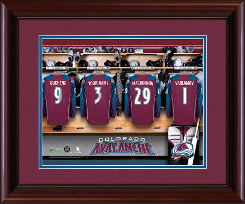 Personalized NHL Locker Room Print - Colorado Avalanche
