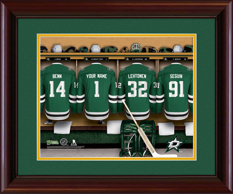 Personalized NHL Locker Room Print - Dallas Stars