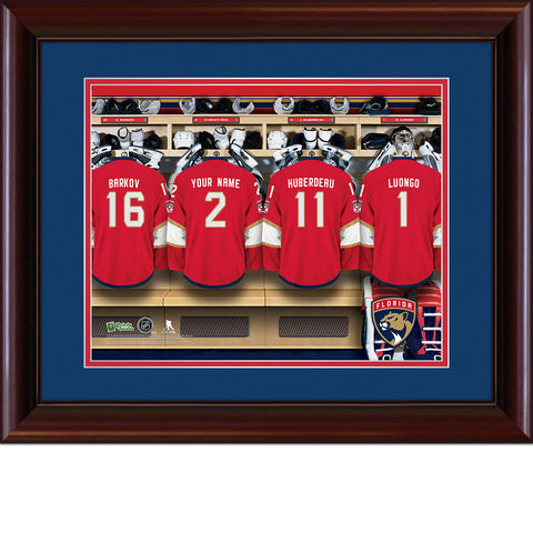 Personalized NHL Locker Room Print - Florida Panthers