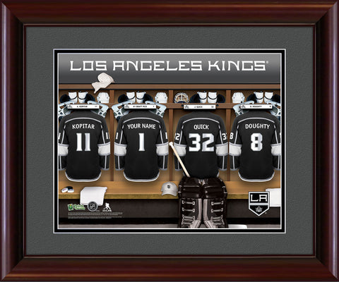 Personalized NHL Locker Room Print - Los Angeles Kings