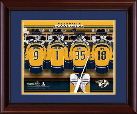 Personalized NHL Locker Room Print - Nashville Predators