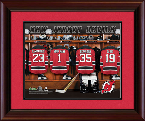 Personalized NHL Locker Room Print - New Jersey Devils