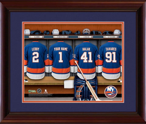 Personalized NHL Locker Room Print - New York Islanders