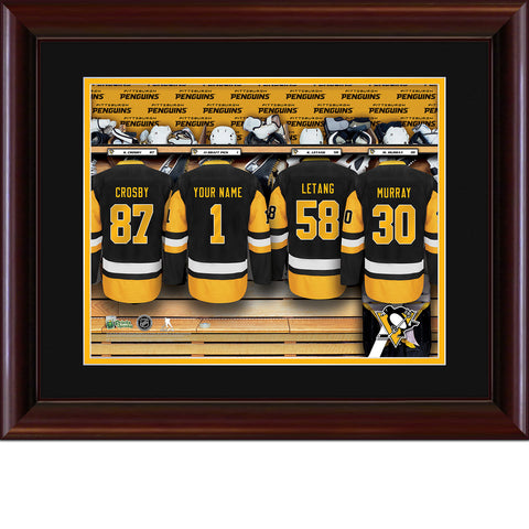 Personalized NHL Locker Room Print - Pittsburgh Penguins