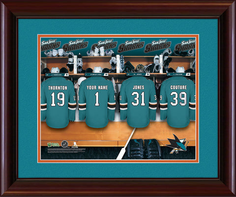Personalized NHL Locker Room Print - San Jose Sharks