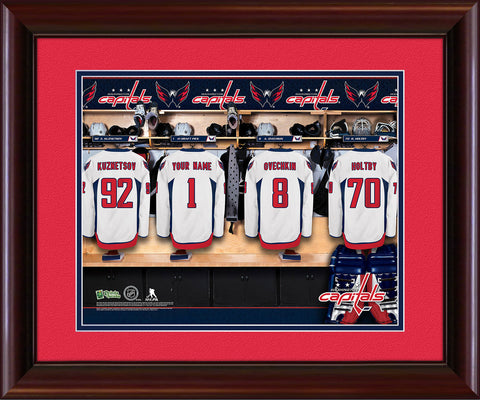 Personalized NHL Locker Room Print - Washington Capitals
