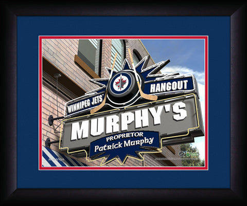 Personalized NHL Pub Sign - Winnipeg Jets