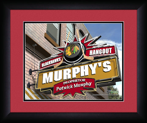 Personalized NHL Pub Sign - Chicago Blackhawks