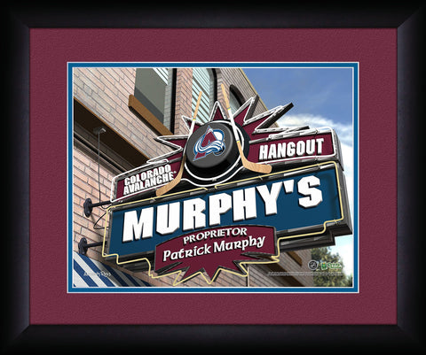 Personalized NHL Pub Sign - Colorado Avalanche