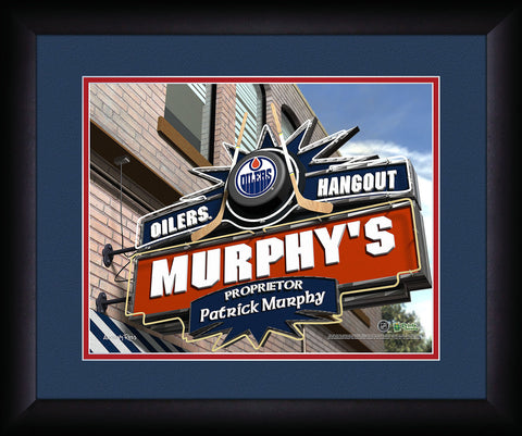Personalized NHL Pub Sign - Edmonton Oilers