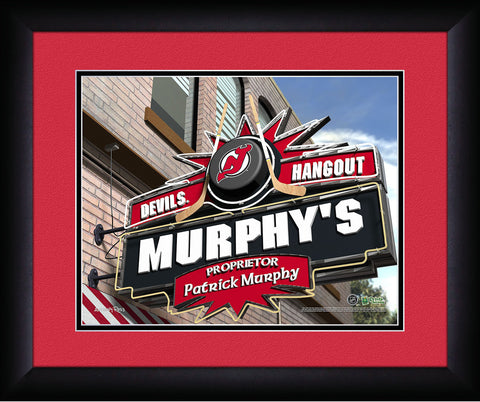 Personalized NHL Pub Sign - New Jersey Devils