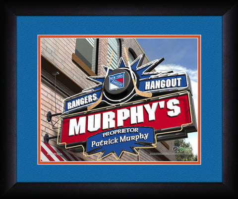 Personalized NHL Pub Sign - New York Rangers