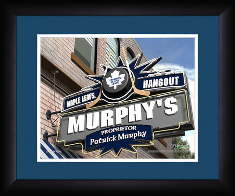 Personalized NHL Pub Sign - Toronto Maple Leafs
