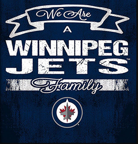 NHL Family Cheer Framed Art - Winnipeg Jets