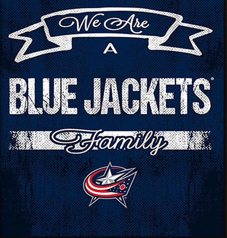 NHL Family Cheer Framed Art - Columbus Blue Jackets