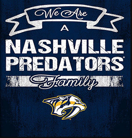 NHL Family Cheer Framed Art - Nashville Predators